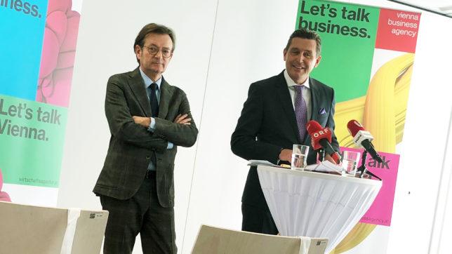 Gerhard Hirczi, Geschäftsführer der Wirtschaftsagentur Wien, und Stadtrat Peter Hanke. © Trending Topics