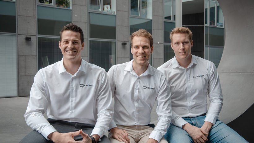 Markus Wagner, Horst-Georg Fuchs und Mathias Holzinger von Chatvisor. © Chatvisor