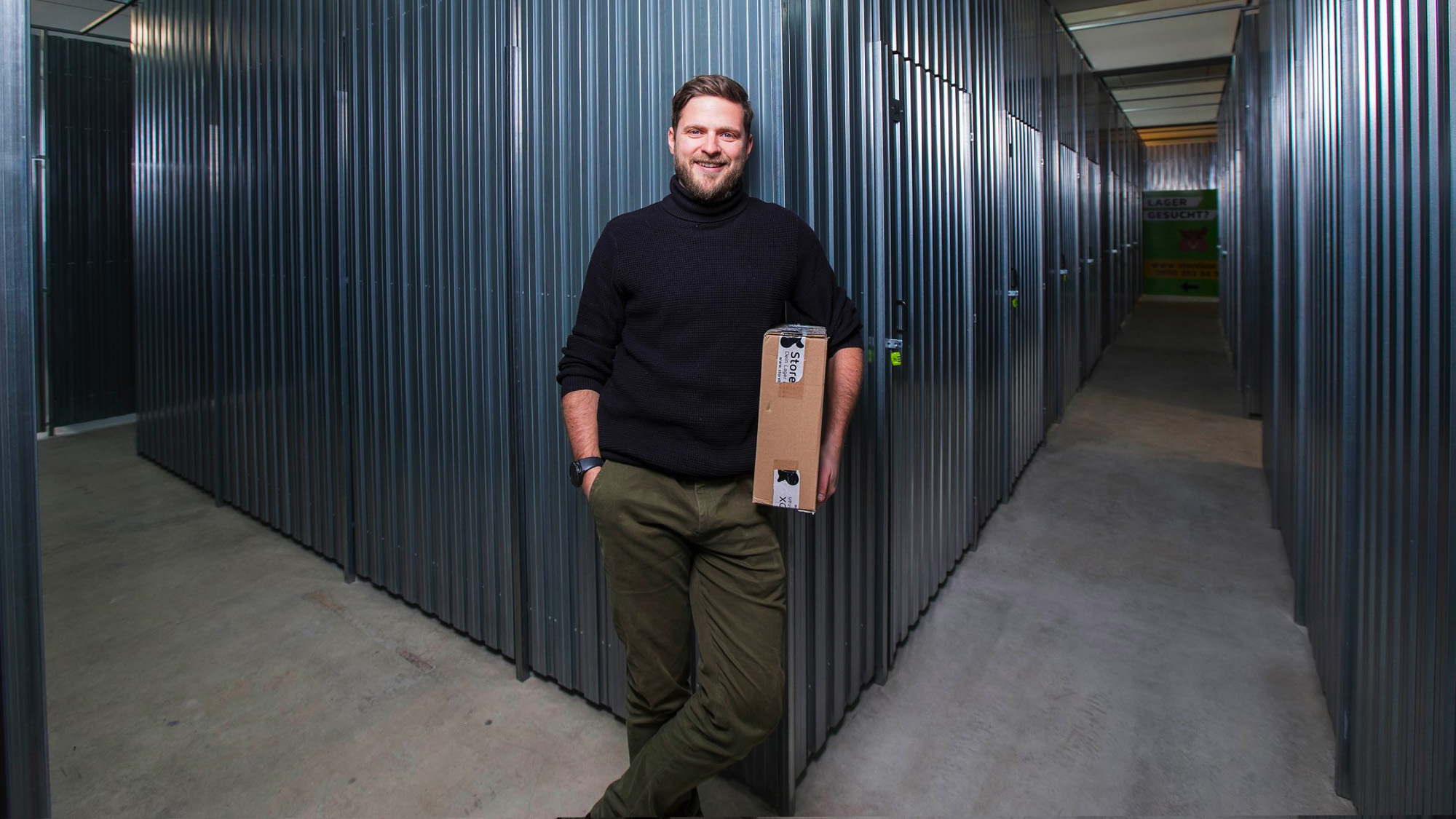 Franchise-Partner Paul Langeder in der Storebox Salzburg Nord © Storebox