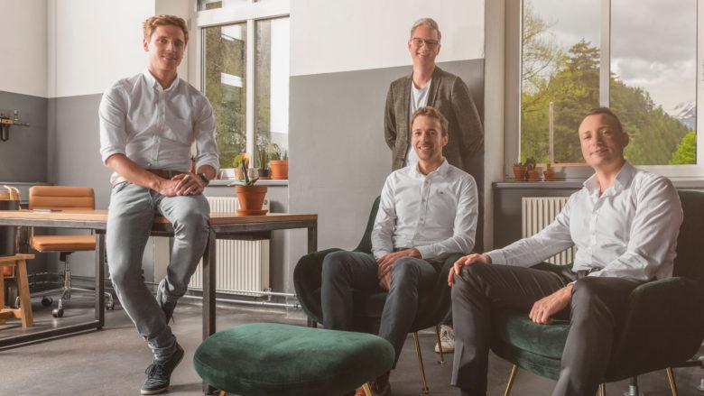 Bernhard Fercher (CTO), Andreas Berger (CTO), Walter Ischia (CFO) und Sebastian Scheler (CEO) von Innerspace. © Innerspace