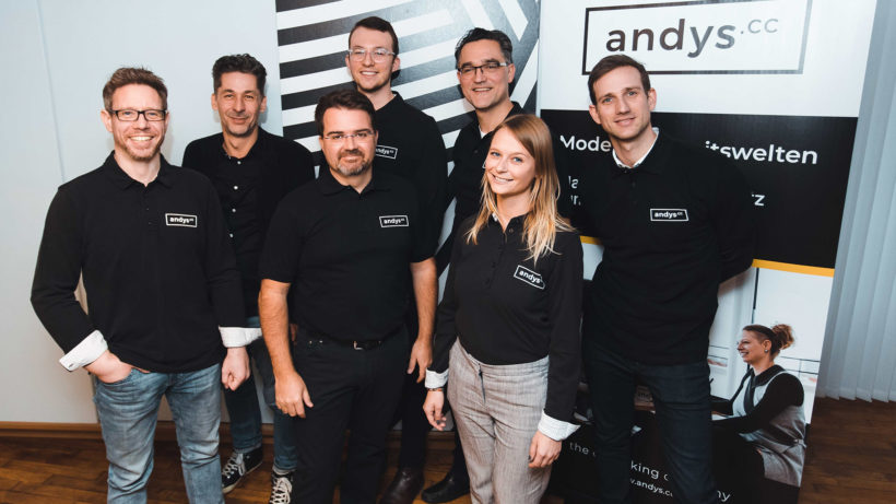 Marcus Weixelberger und sein Team von andys.cc. © andys.cc