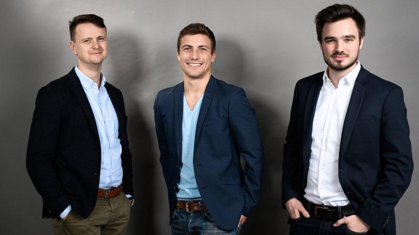 Christoph Zhu, Christopher Fuchs und Markus Bernhart von ready2order. © ready2order