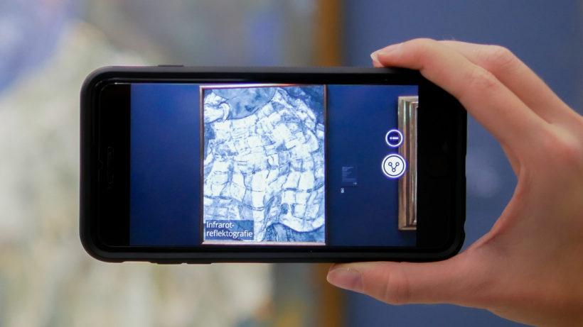 Infrarot-Reflektografie eines Egon-Schiele-Gemäldes © Artivive