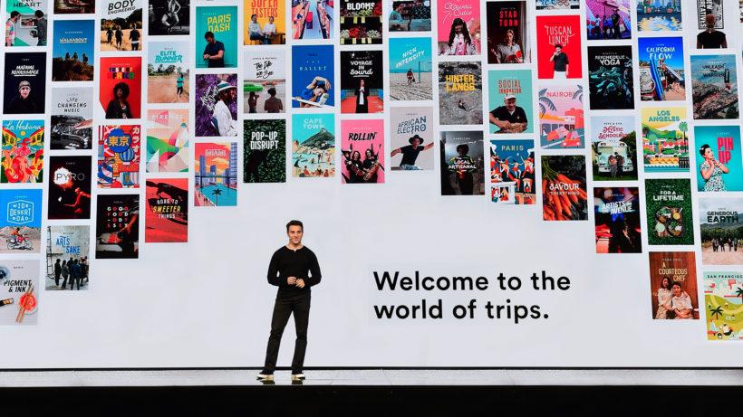 Brian Chesky, CEO von Airbnb, auf der Bühne. © Airbnb
