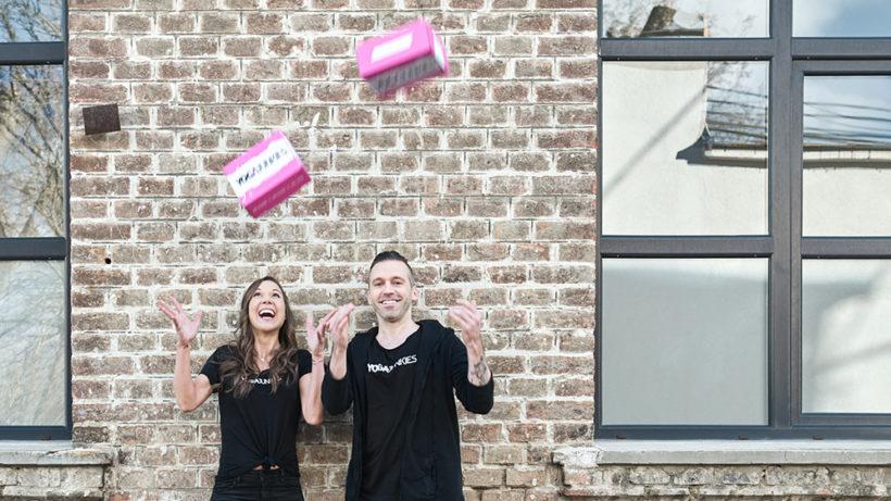 Hannah und Tyler Wisniewski haben Yoga Junkies gegründet © Wolfgang Hirt