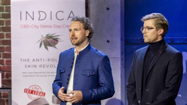 Indica Skincare beim Pitch. © Puls 4 / Gerry Franke