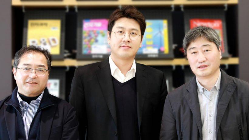 Von links nach rechts: Yuichi Aihara, Principal Engineer vom SRJ, Yong-Gun Lee, Principal Researcher und Dongmin Im, Leiter des Projekts. © Samsung Newsroom / SAIT