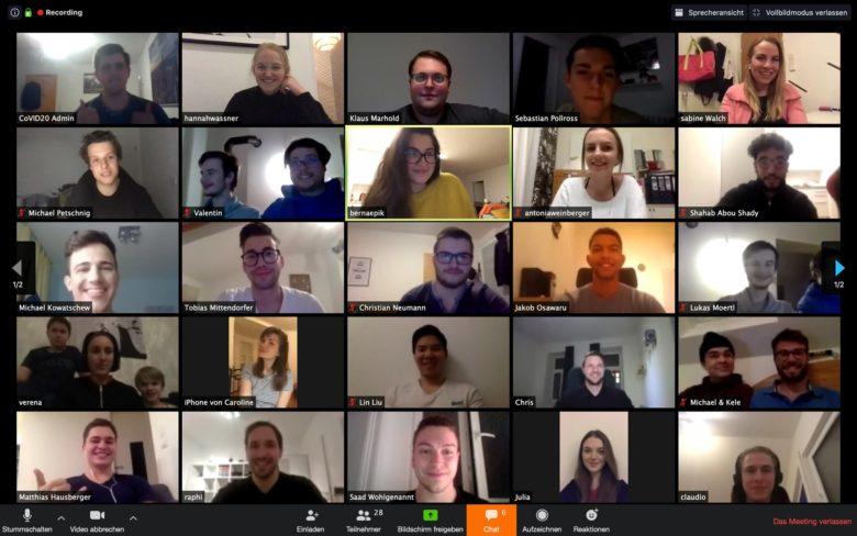 NOVID20-Team beim Gruppen-Call. © NOVID20