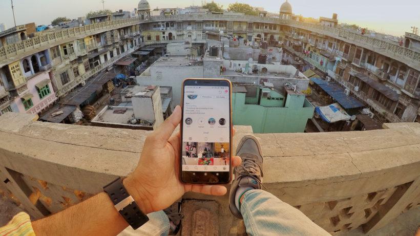Instagram-Nutzer in Delhi. © Photo by Ravi Sharma on Unsplash
