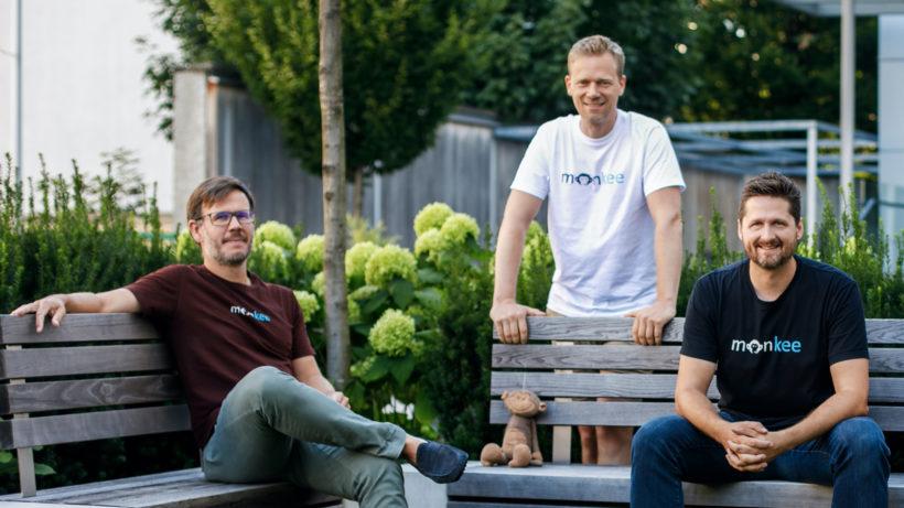 Die Monkee-Gründer Christian Schneider, Jean-Yves Bitterlich und Martin Granig. © Monkee