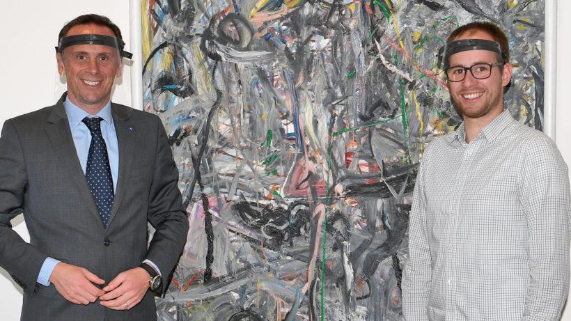NÖ-Wirtschafts- und Technologielandesrat Jochen Danninger und Sören Lex, Gründer und Geschäftsführer von Plasticpreneur. © NLK Reinberger