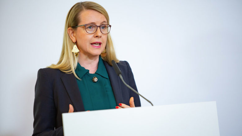 Wirtschaftsministerin Margarete Schramböck. © BKA