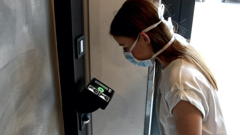 Der SmartScan im Einsatz. © Kentix