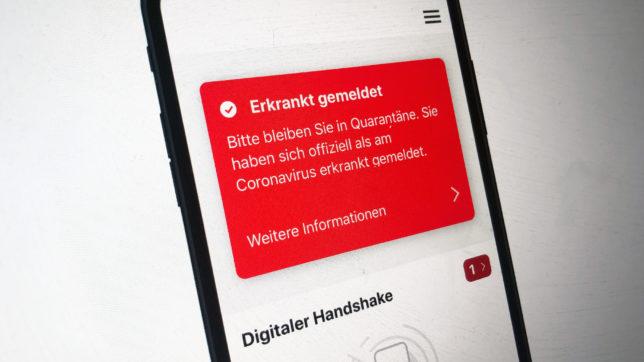 Die Stopp-Corona-App mit Krankmeldung. © Trending Topics