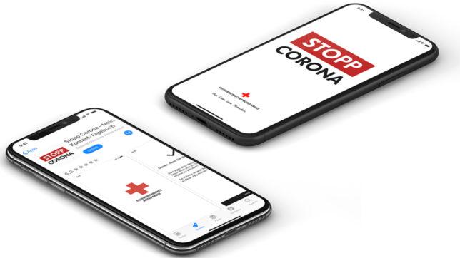 Die Stopp-Corona-App des Roten Kreuzes. © Rotes Kreuz