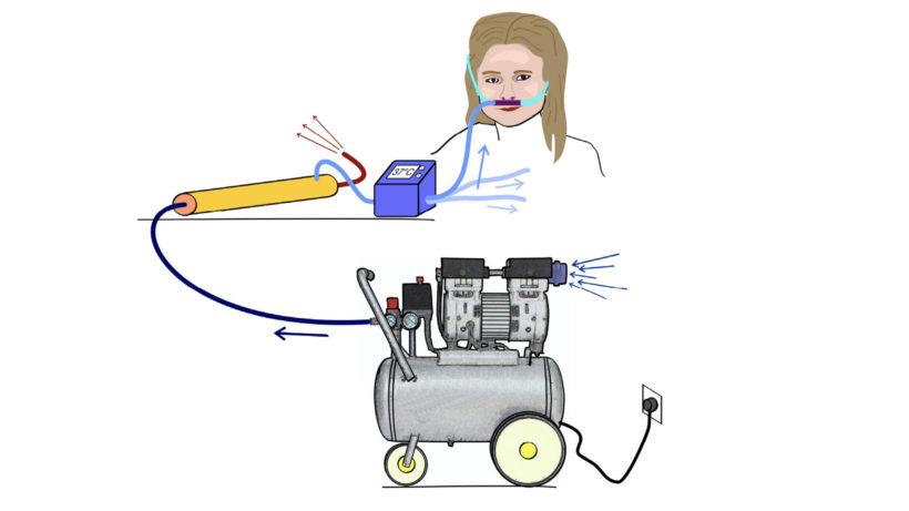 Ein Sauerstoffgerät der TU Wien könnte das Gesundheitssystem entlasten © TU Wien
