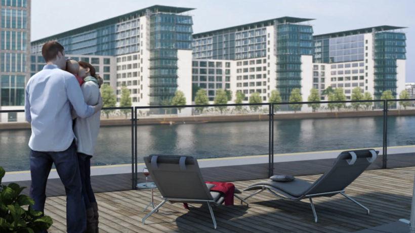 Mit Blick auf die Spree – in diese Immobilie in Berlin kann über Tokens investiert werden © Tigris Immobilien