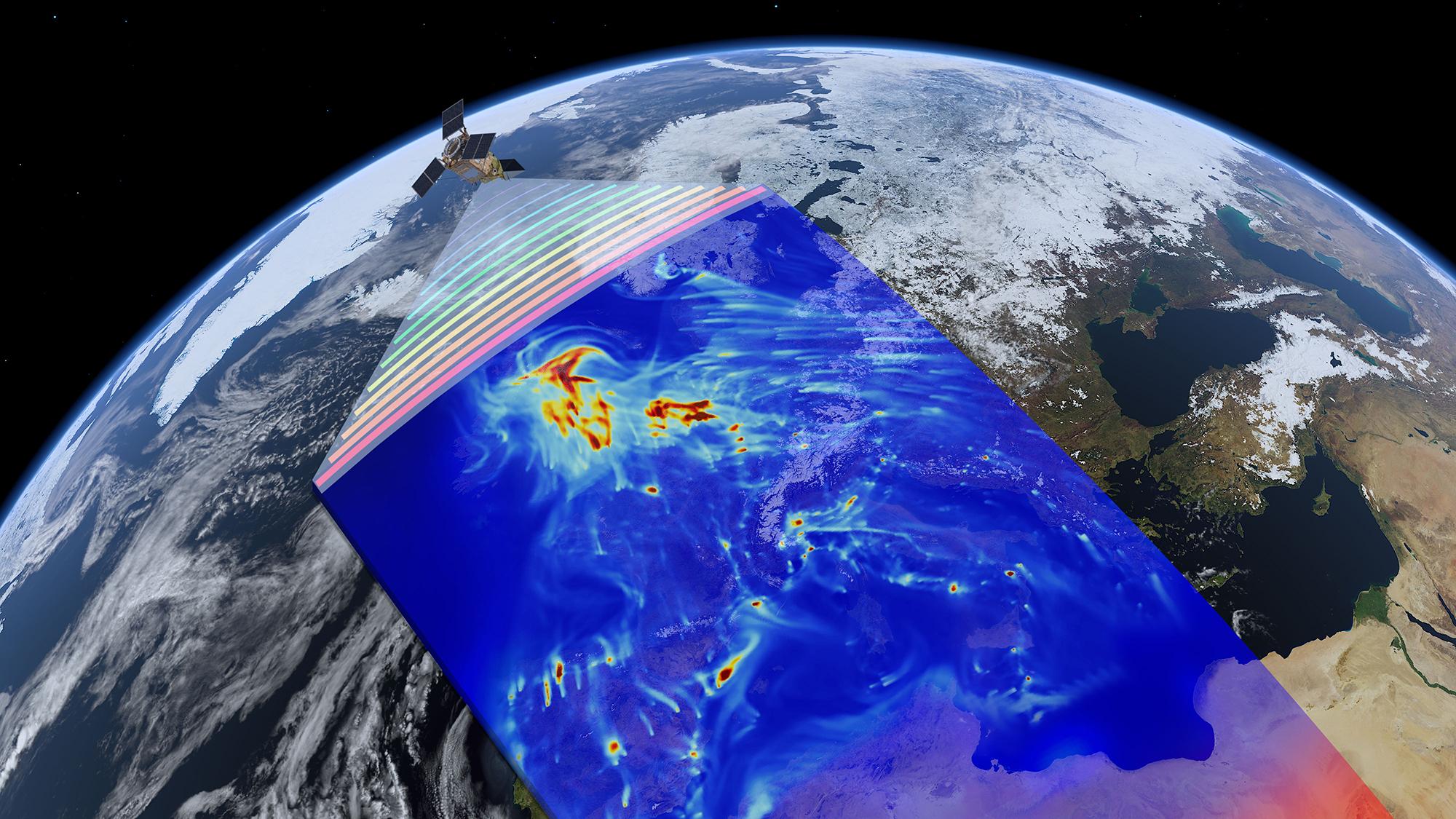 Wo ist die Luft am saubersten? Satellitendaten helfen Atmos bei der Analyse © ESAATG-medialab