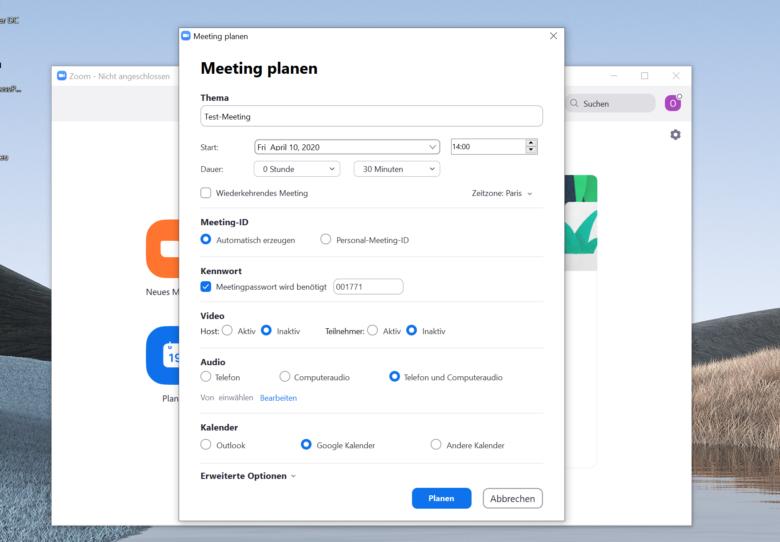 Passwortschutz für Zoom-Meetings. © Trending Topics