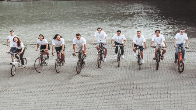 Das Bikemap-Team in Wien. © Bikemap