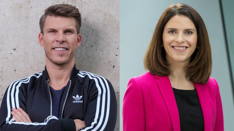 Florian Gschwandtner und Maria Zesch von Magenta Telekom. © Runtastic/Magenta Telekom