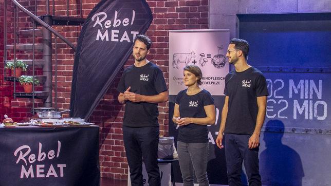 """Das Team von Rebel Meat bei """"2 Minuten 2 Millionen"""" © Puls 4/Gerry Frank"""