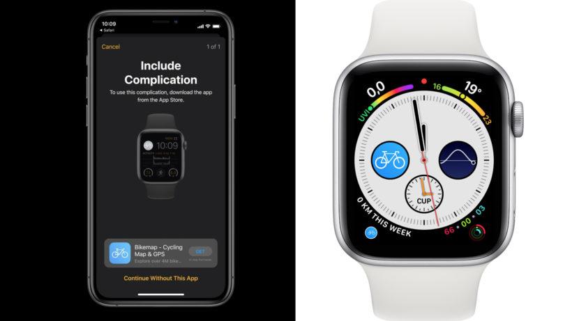 Bikemap für die Apple Watch. © Apple/Bikemap