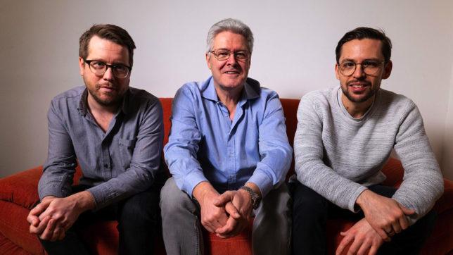 Christoph Muck und Florian Richling von ForTunes, mit Albert Manzinger von PhonoNet Austria in der Mitte. © PhonoNet