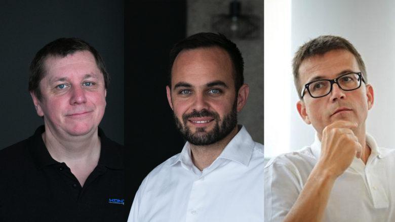 Die Kontrol-Gründer Michael Naderhirn (CTO),  Andreas Lauringer (CEO) und Günther Wiesauer (CIO). © Kontrol, Montage Trending Topics