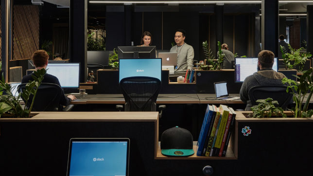 Im Büro bei Slack. © Slack