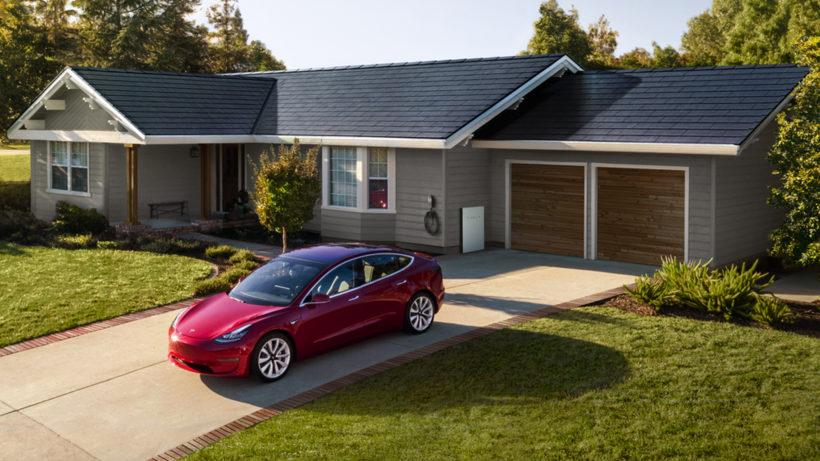 """Das """"Solar Roof"""" von Tesla. © Tesla"""