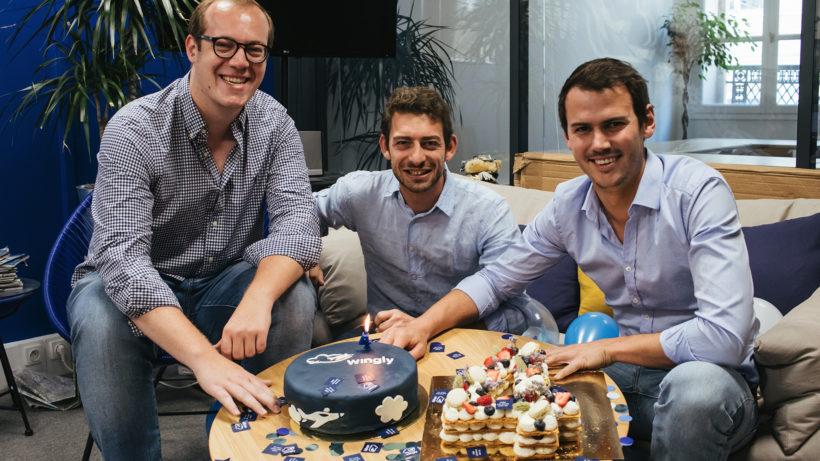 Die Wingly-Gründer Lars Klein, Emeric de Waziers und Bertrand Joab-Cornu. © Wingly
