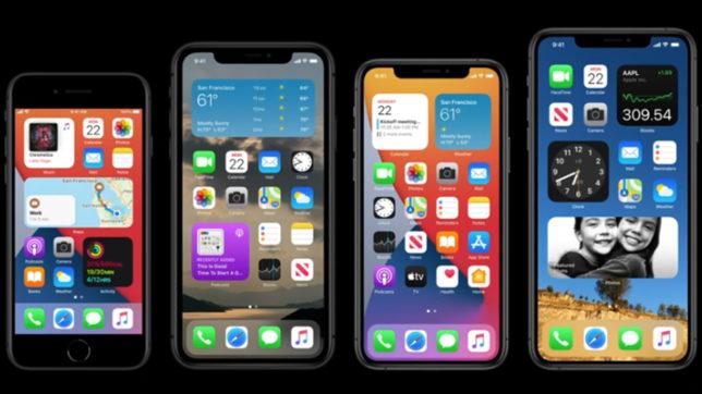 iPhone Widgets. © Apple