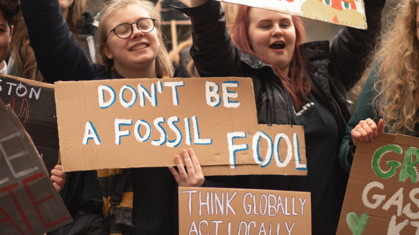 """Don't be a fossil fool."" © Callum Shaw on Unsplash"