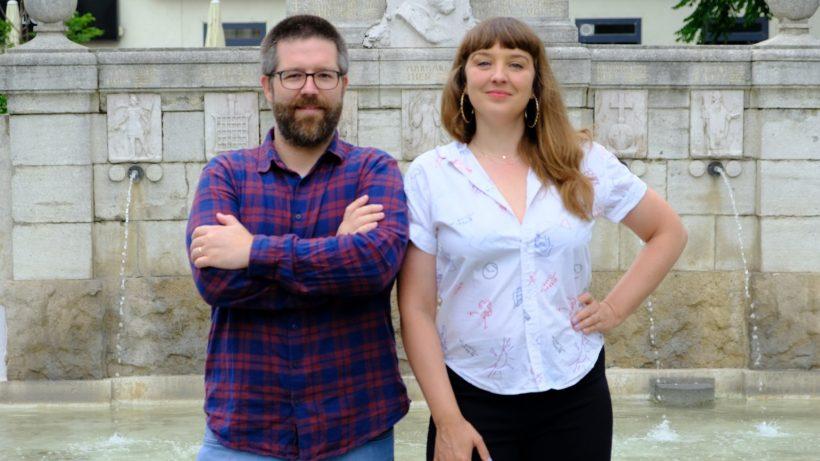 Bernhard Madlener und Tatjana Lukáš, die beiden Gründer von Podcastwelt. © Podcastwelt