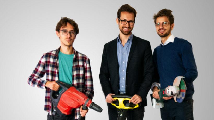 Die ToolSense-Gründer Alexander Manafi, Benjamin Petterle und Rostyslav Yavorskyi. © ToolSense