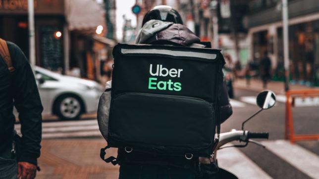 Botenfahrer für Uber Eats. © eggbank on Unsplash