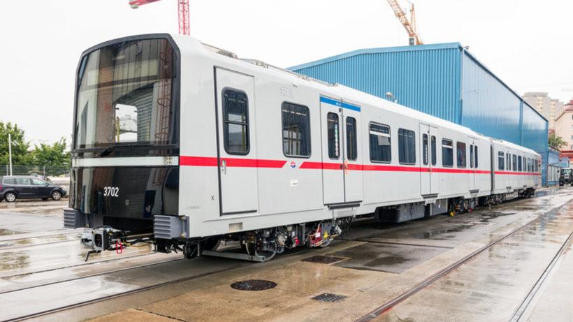 Der X-Wagen aus dem Siemens-Werk. © Wiener Linien/Severin Wurnig