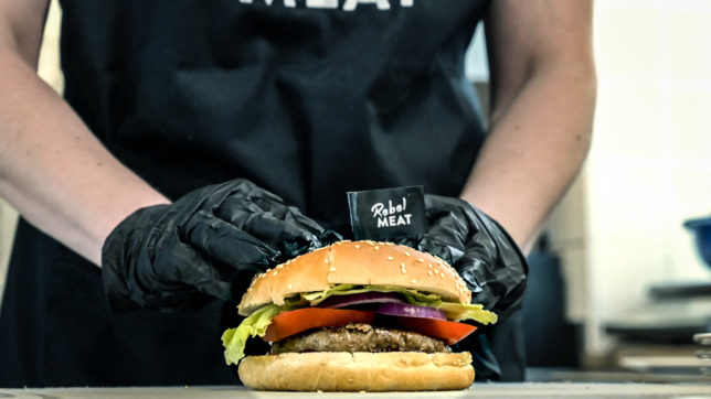 Burger von Rebel Meat: Startup tritt bei EFIB in Wien auf © Rebel Meat