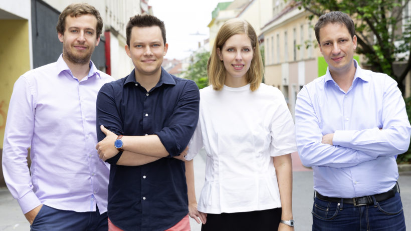 Joachim Ringsmuth, Sergiu Ardelean, Carina Doppler und Codin Popescu von Artivive. © Artivive