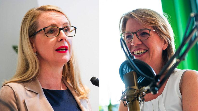 Wirtschaftsministerin Schramböck und Umweltministerin Gewessler. © BMDW / BMK, Montage Trending Topics