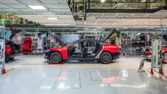 Tesla-Werk in Fremont, Kalifornien. © Tesla