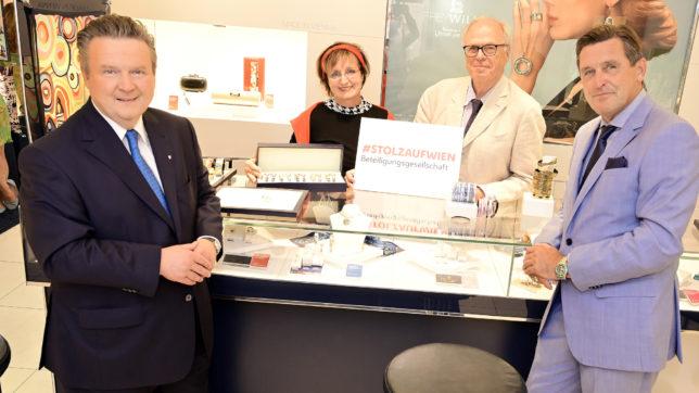 Frey-Wille-Vertreter mit Bürgermeister Ludwig und StR Hanke. © C.Jobst/PID