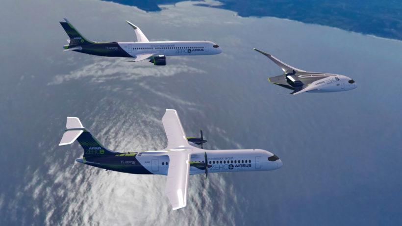 ZEROe-Flotte von Airbus. © Airbus