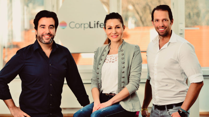 Wolfgang Weil (CSO), Lucia Nowak (CPO) und Mario Nowak (CEO) von CorpLife. © CorpLife