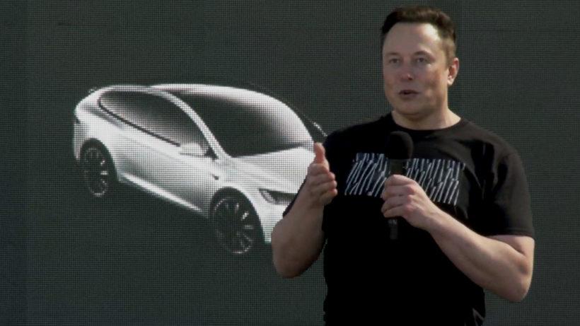 Tesla-Chef Elon Musk am Battery Day. © Tesla