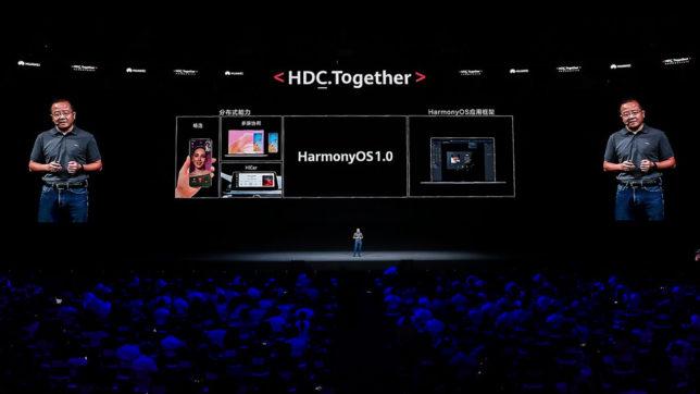 Präsentation von HarmonyOS bei der Huawei Developer Conference 2020. © Huawei
