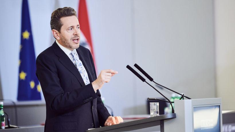 WKÖ-Präsident Harald Mahrer zum Kaufhaus Österreich. © WKÖ/Marek Knopp