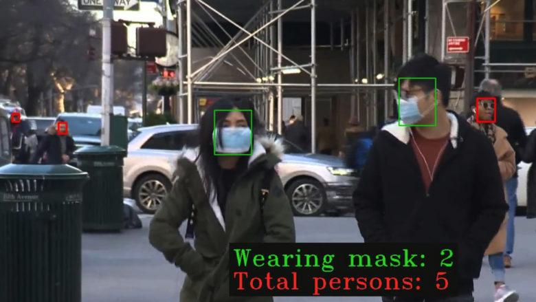 Software erkennt Personen mit und ohne Maske. © Nagarro