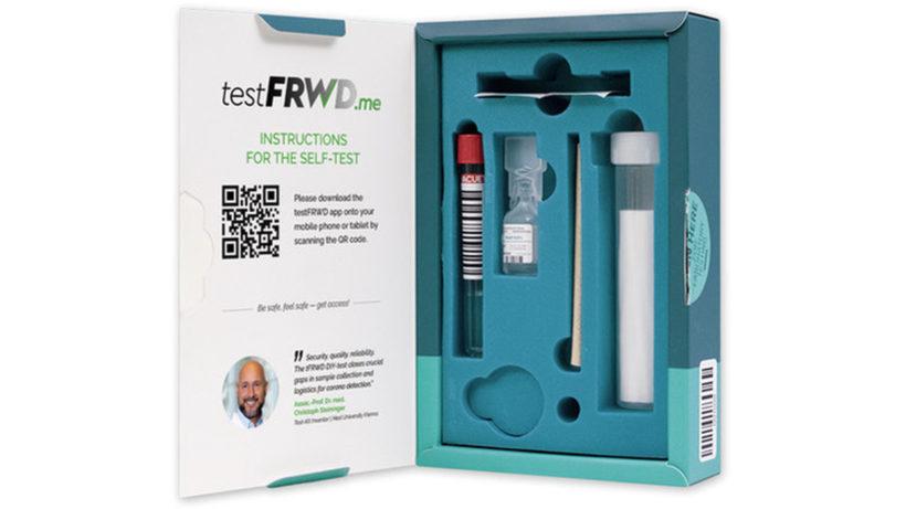 Das Testkit von tFRWD. © tFRWD